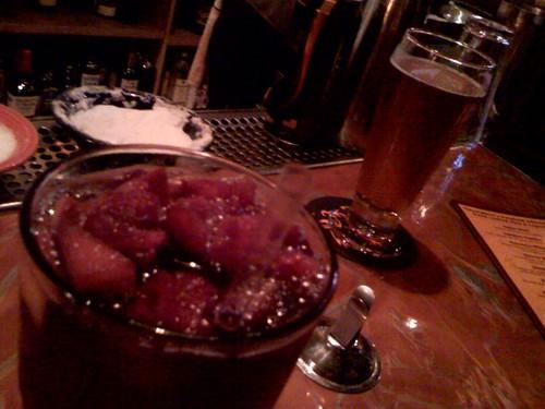 Sangria & Golden Vanilla organic beer @ Thirsty Bear