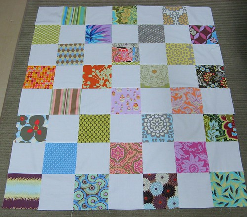 Quilt top for baby Tate