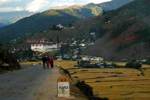 on the road to a town called paro