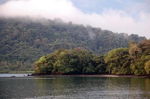 Isla de Coiba, cerca de la estación científica y administración del Parque Nacional Coiba