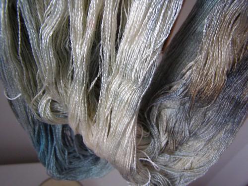 dyed silk