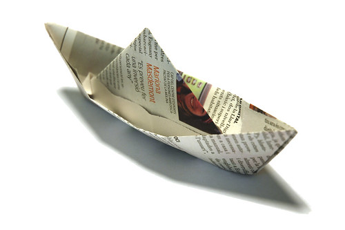 Newspaper Boat by marcelgermain.
