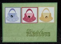 fabulous bag card