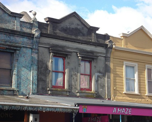 Red windows at 199 Ponsonby Road