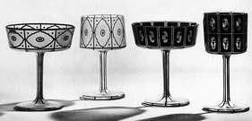 Josef Hoffmann.  Lámparas decoradas con vidrio. 1912.