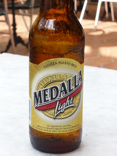 The local Puerto Rican beer is also light...