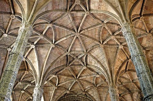 Ceiling, Mosteiro dos Jeronimos by gornabanja.