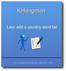 Add the country word list in KHangman