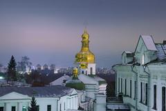 Pechersk Lavra Monastery, Nightfall in Kiev
