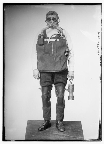 mine rescuer, LOC archives