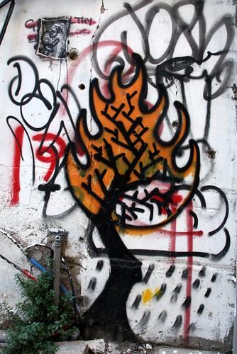 Burning Bush graffiti