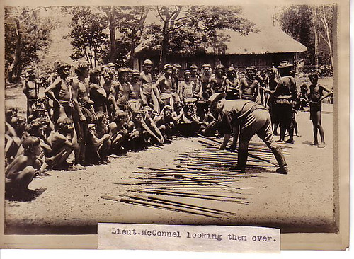 Igorots surrender arms spear  Philippine Buhay Pinoy Noon old pictures photograph black and white Philippines  Filipino Pilipino  people photos life Philippinen indigenous tribe
