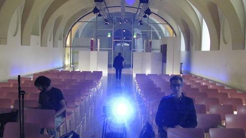 Pre-talk set up, somehow futuristically