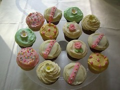 Beautifully decorated cupcakes - one more shot