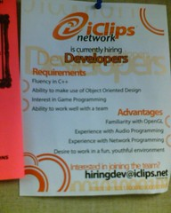 flyer for work at iclips.net