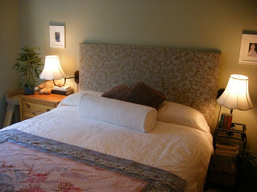 how to make a fabric covered headboard blissful begonia. Black Bedroom Furniture Sets. Home Design Ideas