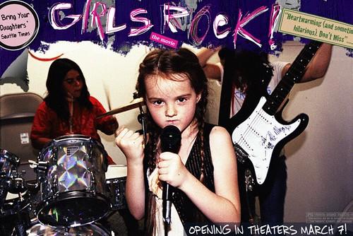 girls rock movie flier