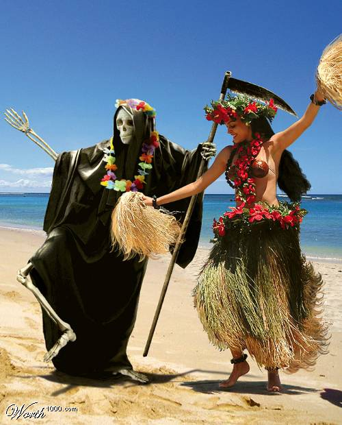 death hula dancing