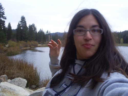 Picture of me near lake.