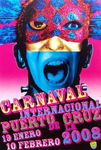 Puerto de la Cruz, Carnaval poster 2008