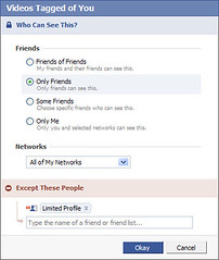 Facebook privacy with friend lists