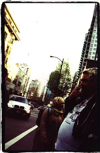 daniel smoking on the corner
