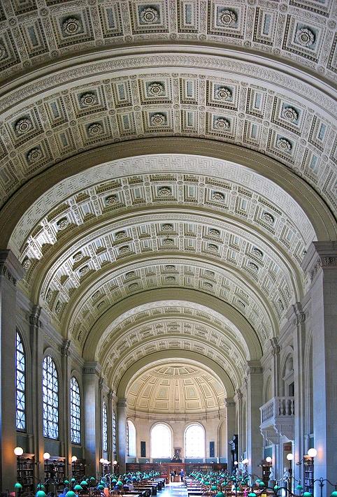 Bostondaki halk kütüphanesi