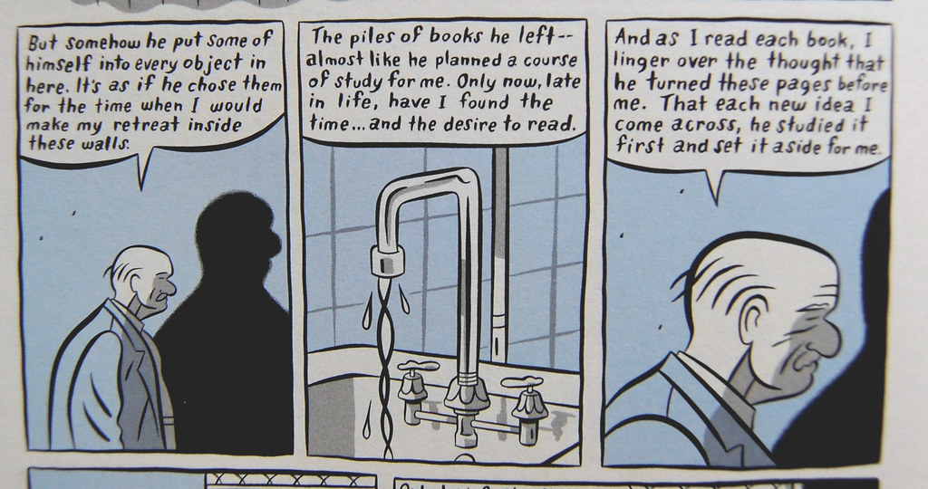 bathroom scene from Clyde Fans: Book One