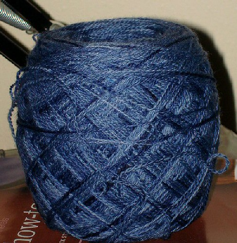 blue jean laceweight from Kindred Spirits yarn