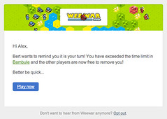 New emails for Weewar