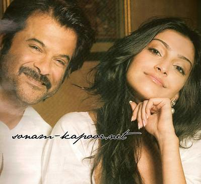 Anil Kapoor Kapoor with dougther Sonam by Farhan Famay.