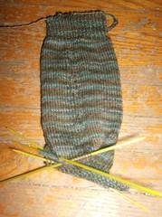 Tea on the Sea Socks - Leg done