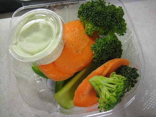 veggies and wasabi dip