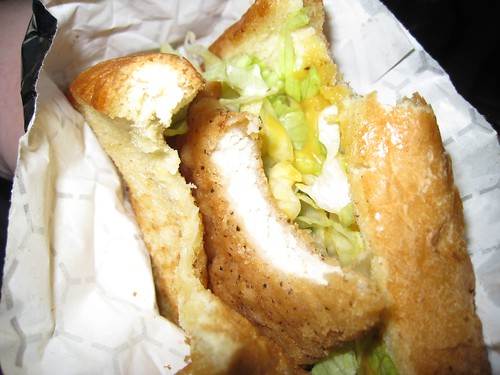 Greg's chicken sandwich