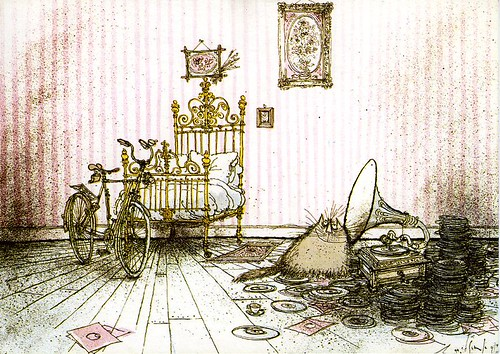 Ronald Searle's hep cat