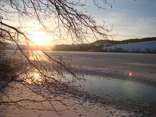 Coucher de soleil à la Vallée de Joux