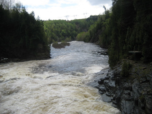 downstream from the Ste Anne falls