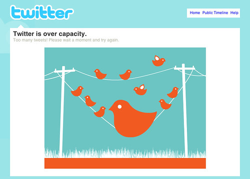"My design for Twitter's ""over capacity"" screen by Mykl Roventine."