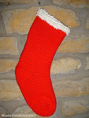 Crocheted Red Stocking