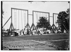 Rings and poles, Bronx Park [children playing]...