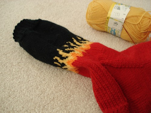 Flame Sock Close Up