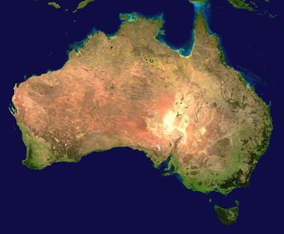 Foto de Australia desde satélite