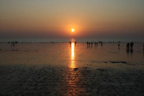 Sunset at Dandi Beach, outside Navsari, Gujarat India