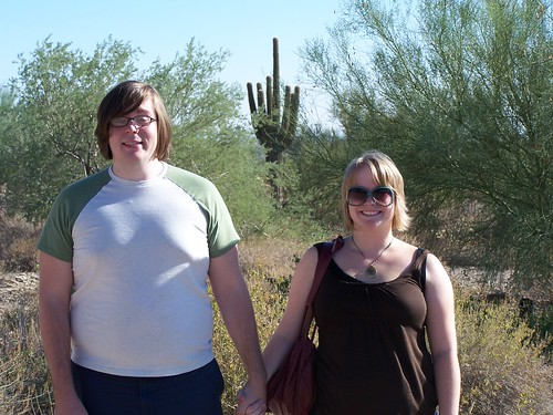 Jon & Rachel with Saguaro