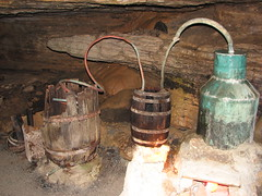 Moonshine still in Forbidden Caverns