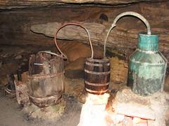 Moonshine still in Forbidden Caverns