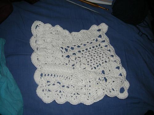 crocheted cotton cloth