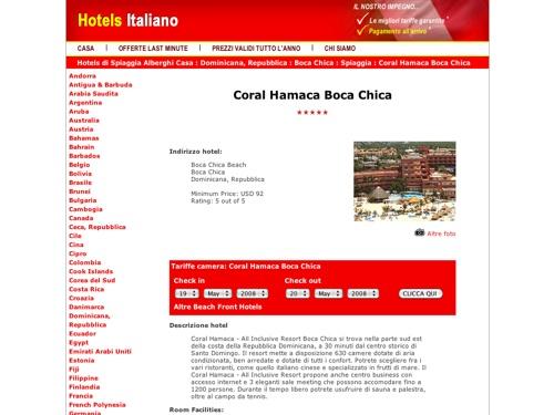 hotels italiano_Dominican-Republic_Boca-Chica_Beach-Front_Coral-Hamaca-Boca-Chica