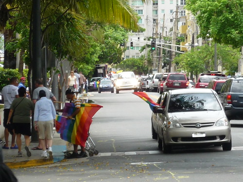 Preparations for the gay parade in San Juan