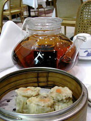 Siew Mai and Pu-Er tea
